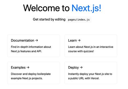 Next.js Index page